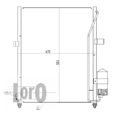 Радиатор кондиционера LORO 0330160007