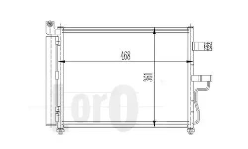 Радиатор кондиционера LORO 0330160010