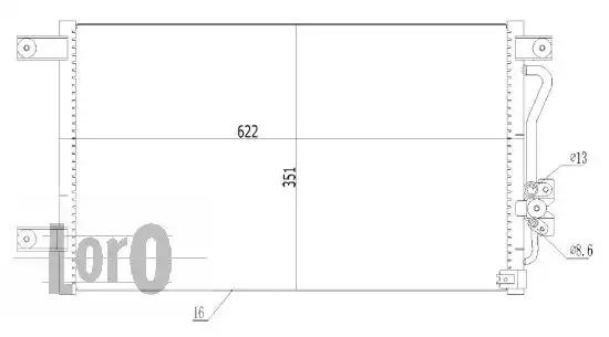 Радиатор кондиционера LORO 0330160014