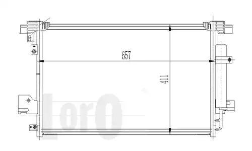 Радиатор кондиционера LORO 0330160015