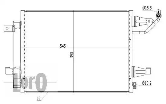 Радиатор кондиционера LORO 0330160016