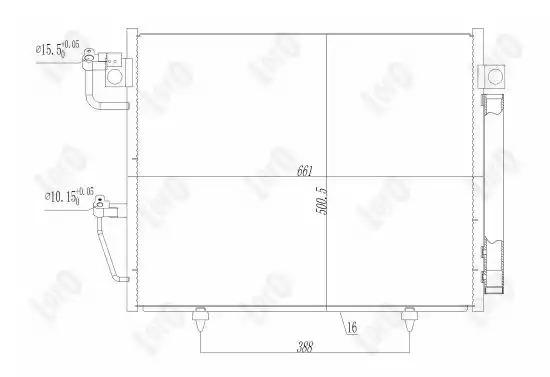 Радиатор кондиционера LORO 0330160017