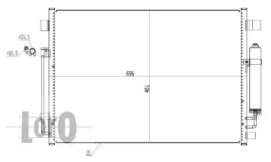 Радиатор кондиционера LORO 0350160001