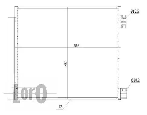 Радиатор кондиционера LORO 0350160006