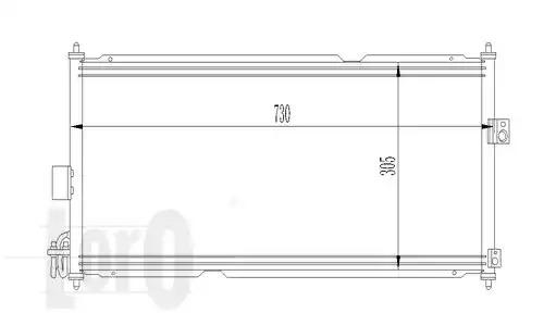 Радиатор кондиционера LORO 0350160009