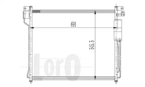 Радиатор кондиционера LORO 0350160020
