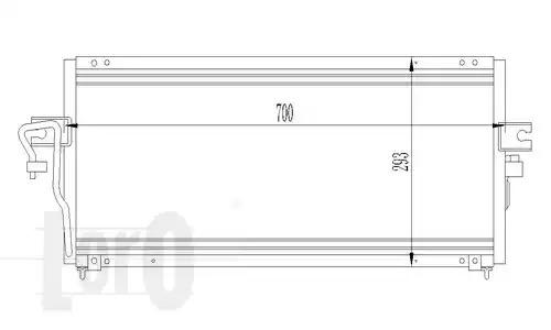 Радиатор кондиционера LORO 0350160021