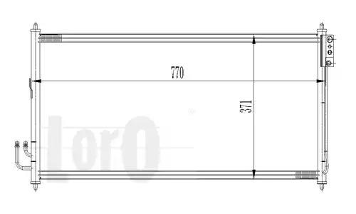 Радиатор кондиционера LORO 0350160022