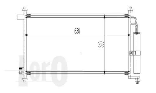 Радиатор кондиционера LORO 0350160023