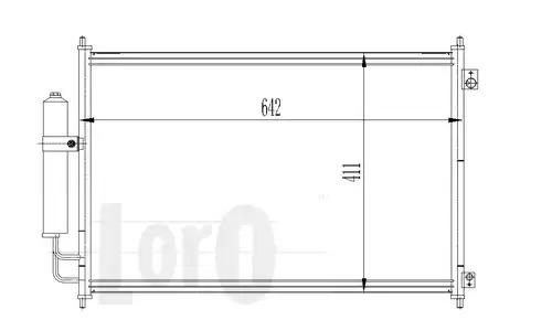 Радиатор кондиционера LORO 0350160025