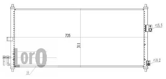 Радиатор кондиционера LORO 0350160027