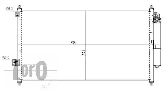 Радиатор кондиционера LORO 0350160028