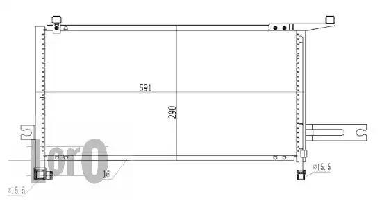 Радиатор кондиционера LORO 0350160029
