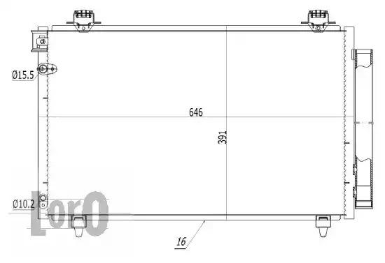 Радиатор кондиционера LORO 0510160009