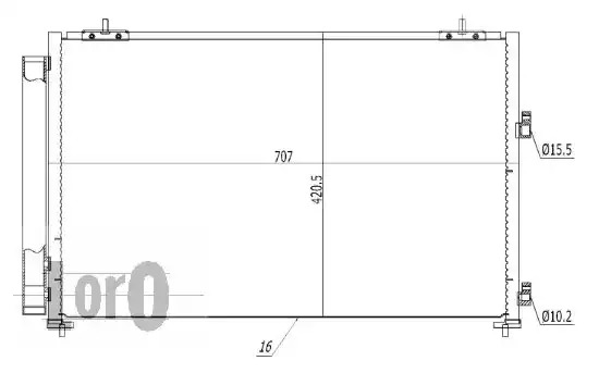 Радиатор кондиционера LORO 0510160011