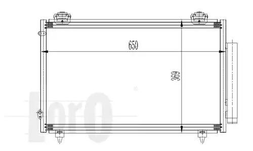 Радиатор кондиционера LORO 0510160012