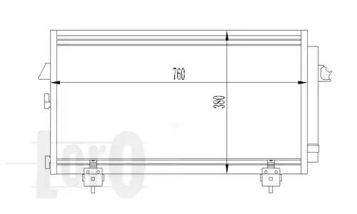 Радиатор кондиционера LORO 0510160014
