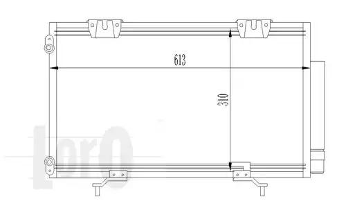 Радиатор кондиционера LORO 0510160015