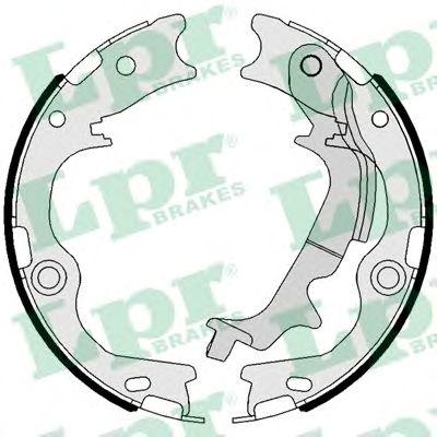 Тормозные колодки барабанные LPR 01116