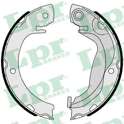 Тормозные колодки барабанные LPR 01123
