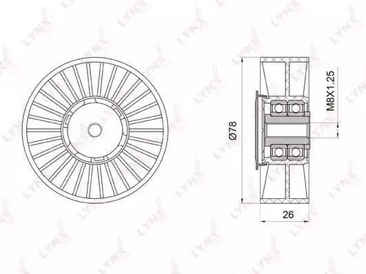 Натяжной ролик ремня ГРМ LYNXauto PB5035