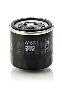 Масляный фильтр MANN-FILTER W671