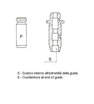 Направляющая клапана METELLI 012169