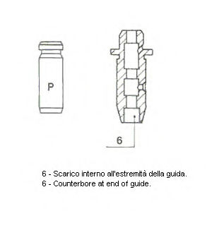 Направляющая клапана METELLI 012171
