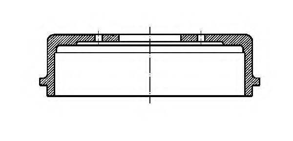 Тормозной барабан METELLI 180262