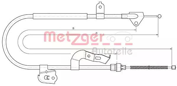 Трос ручного тормоза METZGER 104510