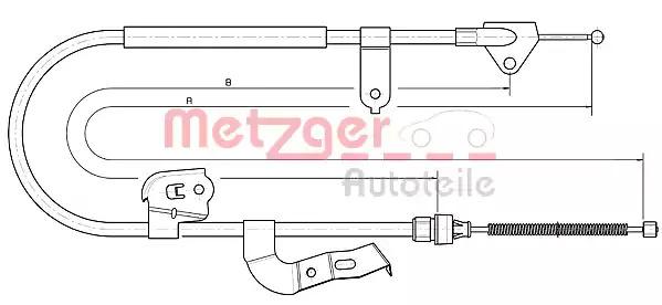Трос ручного тормоза METZGER 104511