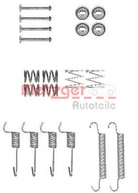 Ремкомплект барабанных колодок METZGER 1050008