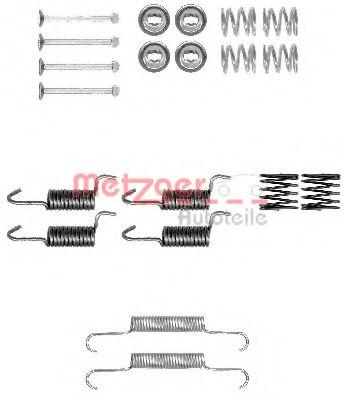 Ремкомплект барабанных колодок METZGER 1050010