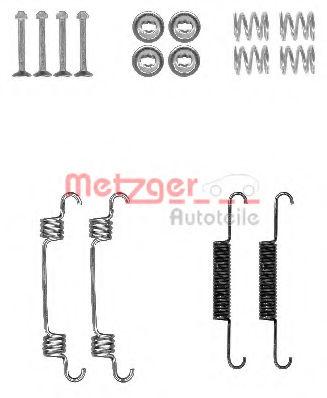 Ремкомплект барабанных колодок METZGER 1050887