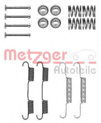 Ремкомплект барабанных колодок METZGER 1050896