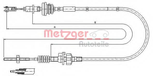 Трос сцепления METZGER 112255