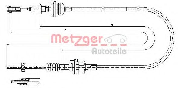 Трос сцепления METZGER 112256