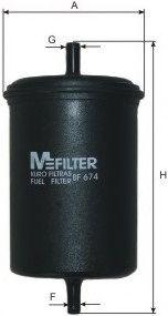Топливный фильтр MFILTER BF674