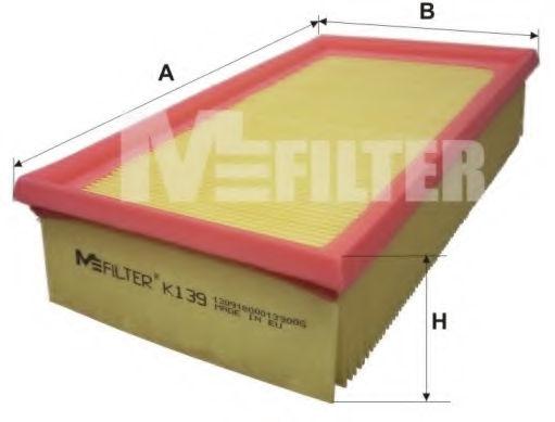 Воздушный фильтр MFILTER K139