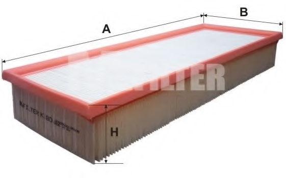 Воздушный фильтр MFILTER K180