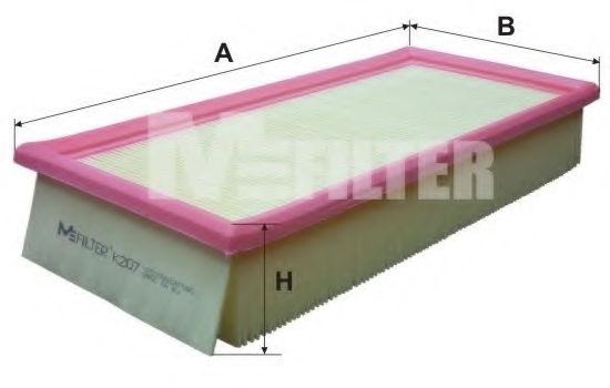 Воздушный фильтр MFILTER K207