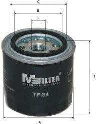 Масляный фильтр MFILTER TF34