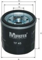 Масляный фильтр MFILTER TF45