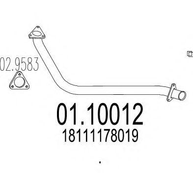 Приемная труба глушителя MTS 0110012