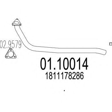 Приемная труба глушителя MTS 0110014