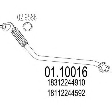 Приемная труба глушителя MTS 0110016