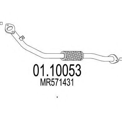 Приемная труба глушителя MTS 0110053