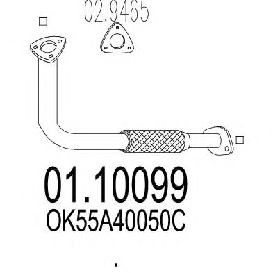 Приемная труба глушителя MTS 0110099