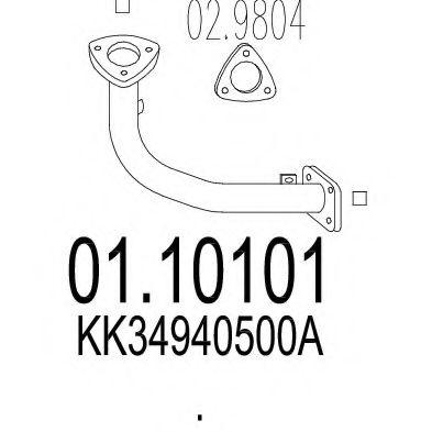 Приемная труба глушителя MTS 0110101