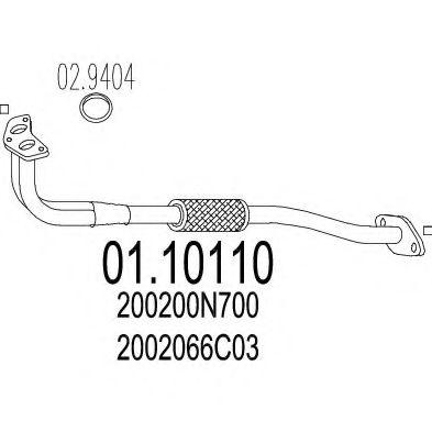 Приемная труба глушителя MTS 0110110